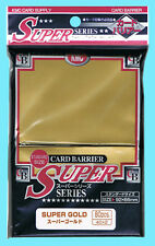 80 KMC SUPER GOLD Card Barrier Standard Size Sleeves NEW MTG Full Deck Protector