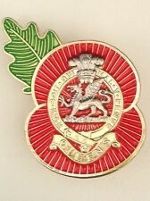 Queens Regiment Regimental Poppy Pins