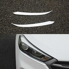 2 Pcs/Set Car Lamp Cover Exterior Trim For Hyundai Tucson 2015+ Plastic 2016