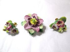 BONE CHINA ARTONE PIN AND SCREW BACK EARRINGS ENGLAND VINTAGE SIGNED LOT OF 2