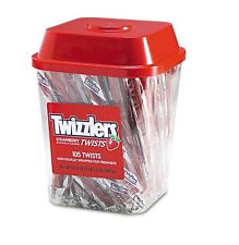 Twizzlers Strawberry Twizzlers Licorice 2 lb.Tub Strawberry Low Fat Candy New