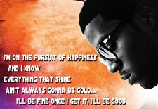 Rapper Art Poster Kid Cudi Pursuit of Happiness  Print
