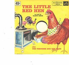 GLENN RIGGS--PICTURE SLEEVE + 45--(LITTLE RED HEN)--PS--PIC--SLV