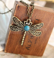 LS09 New Womens Dragonfly Necklace Charms Enamel Rhinestone Wing Pendant 9C