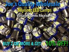BUY(25)BAYONET LED LAMPs-COOL BLUE-6.3V/AC/MC/MAC/METERS-PREAMP-BA9s/AMPLIFIER