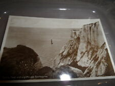 Eastbourne  Beachy Head  POSTED 1928 B/W PHOTOGRAPH VINTAGE POSTCARD