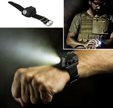 Tactical Rechargeable Wrist Watch 500LM LED Q5 Flashlight Torch Compass Light
