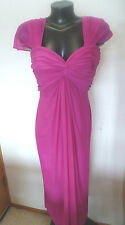Amazing Tadashi Fuschia Evening Dress Drapey Jersey in  Overlapping Layers S