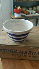 Vintage Blue & White Banded Pudding Basin – Kitchenalia – Shabby! –