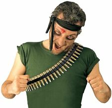 New Army Bullet Belt for Soldier Rambo Army Fancy Dress Accessory