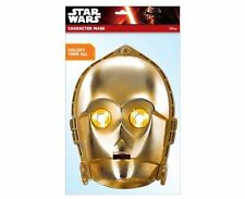 C-3PO Ufficiale Star Wars Singolo 2D Card Party Face Mask droide sci fi trilogy