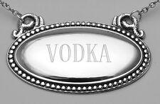 Vodka Liquor Decanter Label / Tag - Oval beaded Border Made in U... Lot 20161838