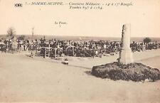CPA 51 SOMME SUIPPE CIMETIERE MILITAIRE 14e a 17e RANGEE TOMBES 895 a 1184
