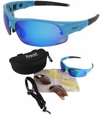 Edge Blue Mens & Womens UV400 SUNGLASSES FOR SPORT Mirrored Lenses