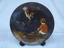 The Tycoon by Norman Rockwell Cabinet Plate - Box + Certificate - Knowles