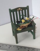 DOLLS HOUSE MINIATURES  - GARDEN CHAIR AND TRUG X1