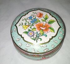 Daher Decorated Ware Floral Covered Tin Box Vintage Made In England  Design NY