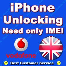 IPHONE 5S 5C VODAFONE UK CLEAN IMEI FACTORY UNLOCKING (NO BLOCK IMEI SUPPORTED)