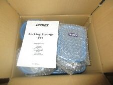 New in box Ultrex Locking storage 9 piece set Blue and clear-