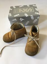 Toddler Boy Designer Step2wo Leather Shoes, Smart Boots, Size 22, 5 1/2 UK, £50