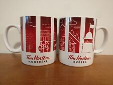 Tim Hortons Canada 2016 Cities Set Montreal & Quebec Province Pair Coffee Mugs