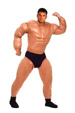 Adult Mr. Muscles Padded Muscle Suit Costume Fits up to 42 inch chest fnt