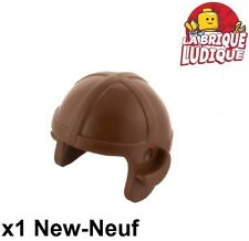 Lego - 1x Minifig headgear cap casque helmet marron/reddish brown 30171 NEUF