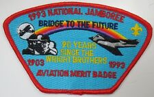 1993 National Jamboree Aviation Merit Badge STAFF Red Border JSP [G1071]