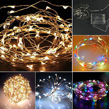 String Fairy 20 LED Light Warm White Battery Operated Lights Party Wedding Decor