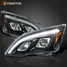 For 2007-2011 Honda CRV CR-V JDM Black LED DRL Projector Headlights Left+Right