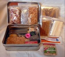 Emergency Survival Kit + Fire Starting + Fishing + First Aid +MRE Bar + Mylar