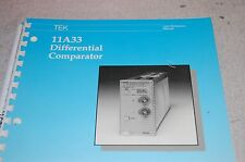 Tektronix 11A33 Differential Comparator User Reference Manual 3114G-2