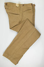 "New. RALPH LAUREN DOUBLE RL RRL Brown Cotton Casual Pants 32X30 Waist 33.5"" $290"