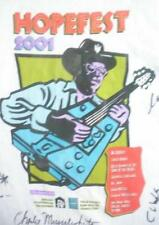 T Shirt signed by Chuck Berry Otis Clay Bo Diddley Billy Branch and more