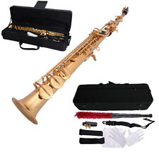 New MBAT Orchestral Woodwind S-01 Bb Soprano Straight Saxophone Brass Sax