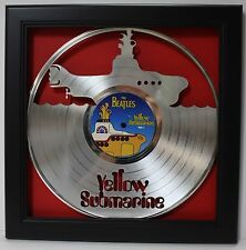 The Beatles Yellow Submarine - Shadowbox Framed Laser Cut Platinum LP Display