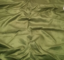 "Silk/Cotton SATIN SATEEN Fabric LEAF GREEN 14""x23"" remnant"
