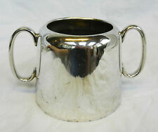 Art Deco Silver Plate / Plated Sugar Bowl with Handles