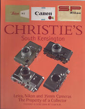 CHRISTIE'S Leica Nikon 35mm Canon Camera Lenses Accessories Auction Catalog 2004