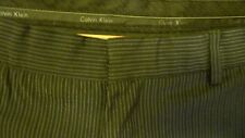 Calvin Klein Size 30L 33W Poly  Viscose Pin Striped Blue Gray Dress Pants