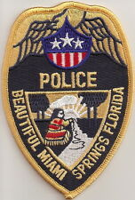 Miami Springs Police Patch Florida NEW