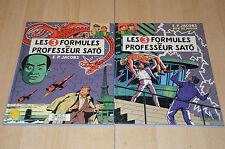 lot 2 BD Les 3 formules du Professeur Sato tomes 1 et 2 - E.P. Jacobs / 1990
