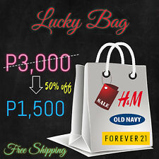 ♥♥♥LUCKY BAG♥♥♥ H&M, Forever21, Old Navy Items Worth P3,000 up for Only P1,500
