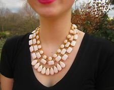 NWT Kate Spade Riviera Garden Triple Strand Necklace PALE PINK STUNNING BRIDAL