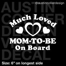 """6"""" MOM-TO-BE ON BOARD vinyl decal car truck window sticker - baby shower gift"""