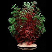 "8"" Red Green Artificial Plastic Water Plants for Fish Tank Aquarium Decoration"