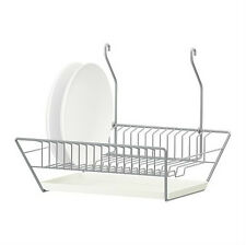 IKEA dish drainer w removable tray steel HANG or STAND kitchen rack holder BYGEL