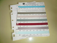 1963 Ford ACME Color Chip Paint Sample