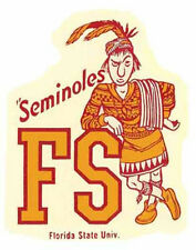 FLORIDA STATE  University  - Seminoles   Vintage-Looking   Travel Decal  Sticker