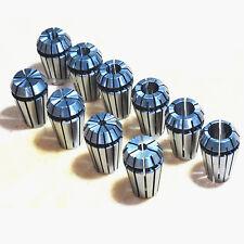 ER16 10 PCS Spring Collet Set for CNC Workholding Engraving & milling Lathe dlo